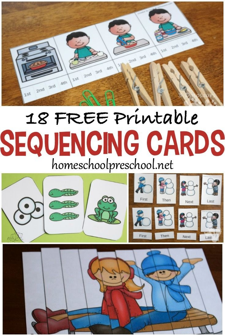 18 Free Printable Sequencing Cards For Preschoolers | Homeschool - Free Printable Sequencing Cards For Preschool