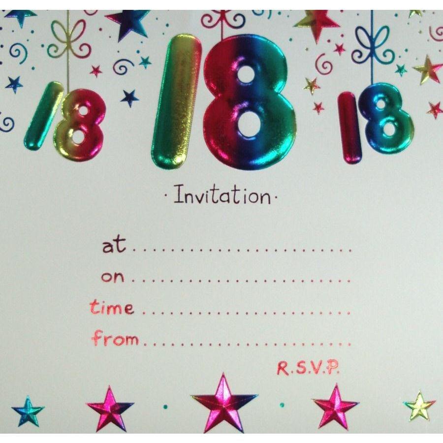 18Th Birthday Invitation Templates — Birthday Invitation Examples - Free Printable 18Th Birthday Invitations