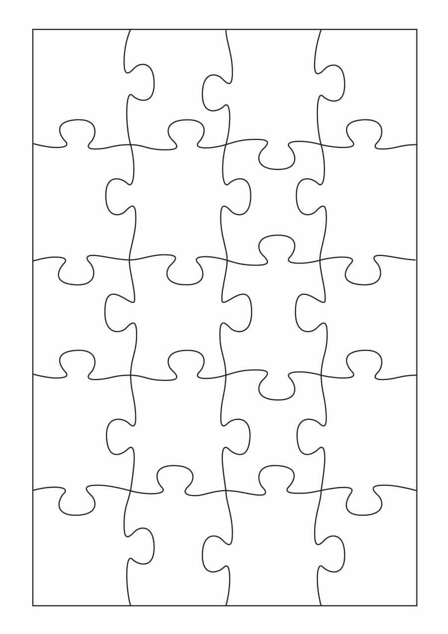19 Printable Puzzle Piece Templates ᐅ Template Lab - Free Printable Blank Puzzle Pieces