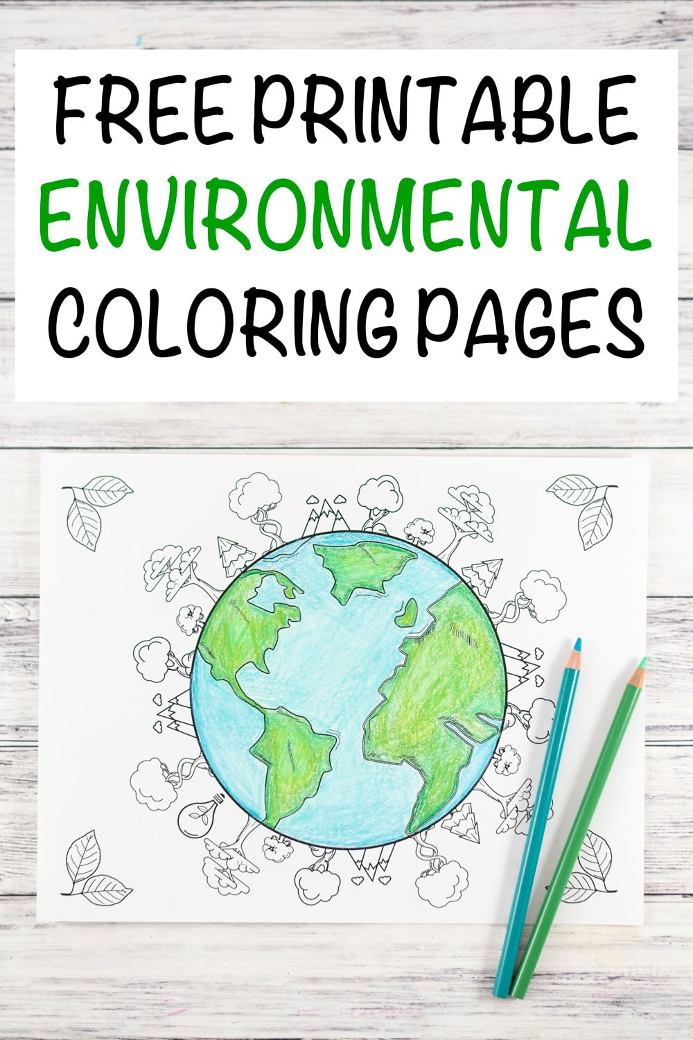 20+ Earth Day And Environmental Coloring Pages - The Artisan Life - Earth Coloring Pages Free Printable
