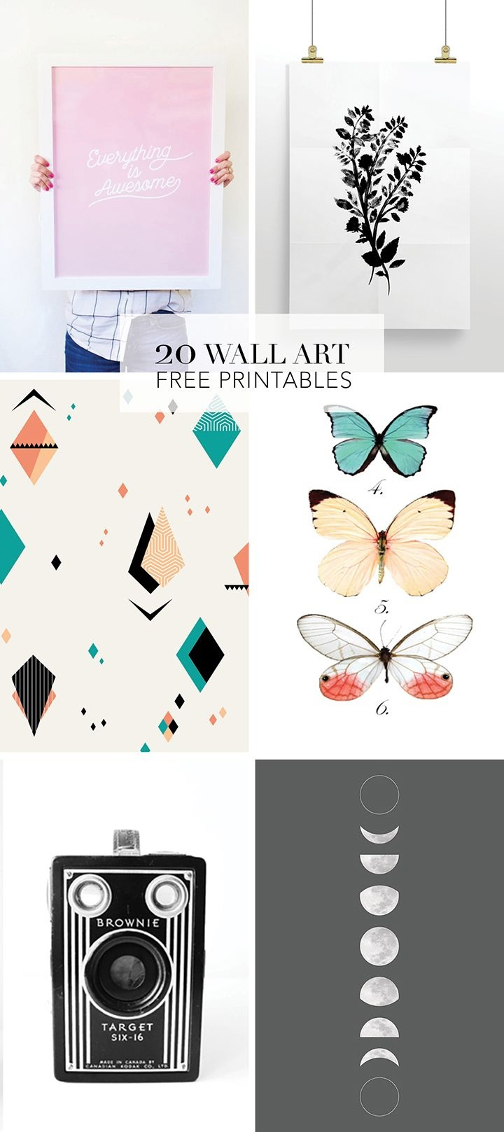 20 Favorite Wall Art Free Printables | Diy Wall Decor | Printable - Free Printable Art Pictures