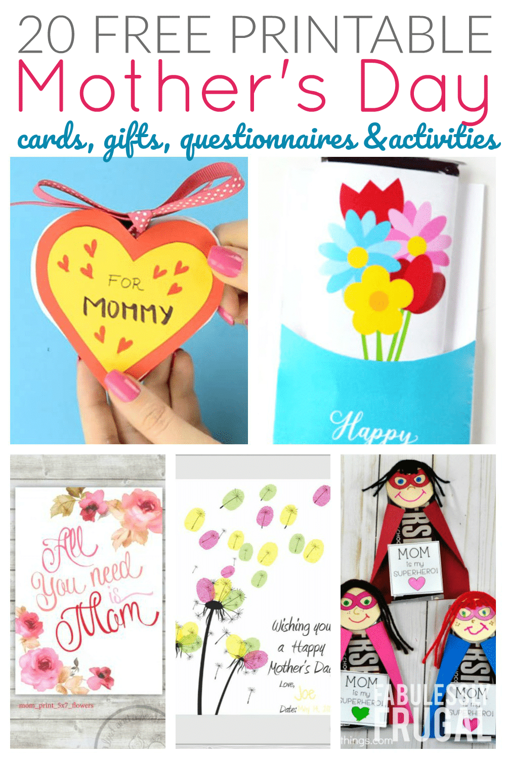 20 Free Printable Mother's Day Cards To Make At Home - Fabulessly Frugal - Make Mother Day Card Online Free Printable