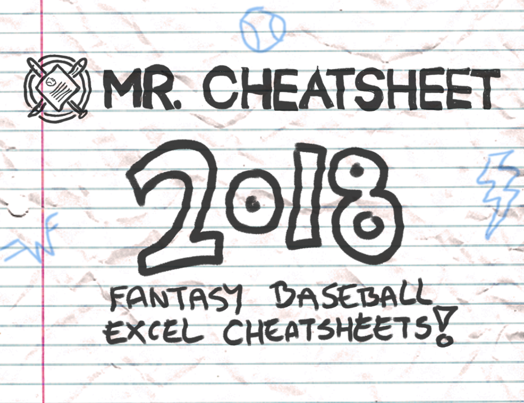 2018 Fantasy Baseball Excel Cheatsheets (Roto And Points Leagues - Free Printable Fantasy Football Cheat Sheets