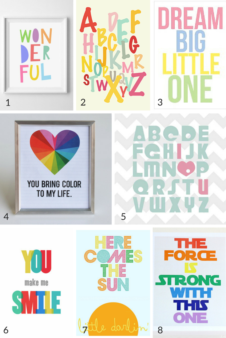 21 Free Printable Art Prints To Quickly Decorate The Barest Of Walls - Free Printable Nursery Resources