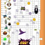 23 Free Esl Halloween Crossword Worksheets   Halloween Crossword Printable Free
