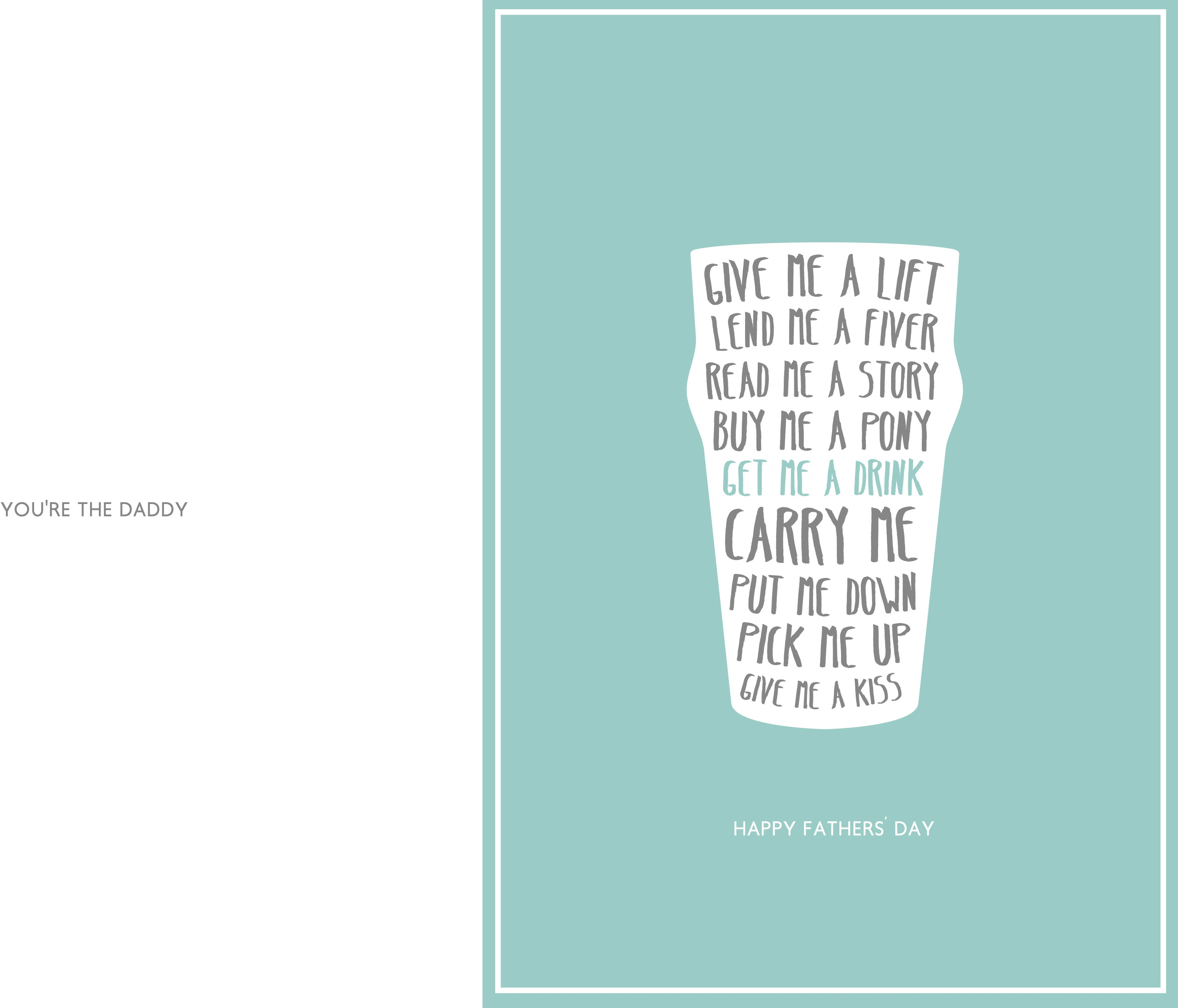 24 Free Printable Father's Day Cards   Kittybabylove - Free Printable Father's Day Card From Wife To Husband