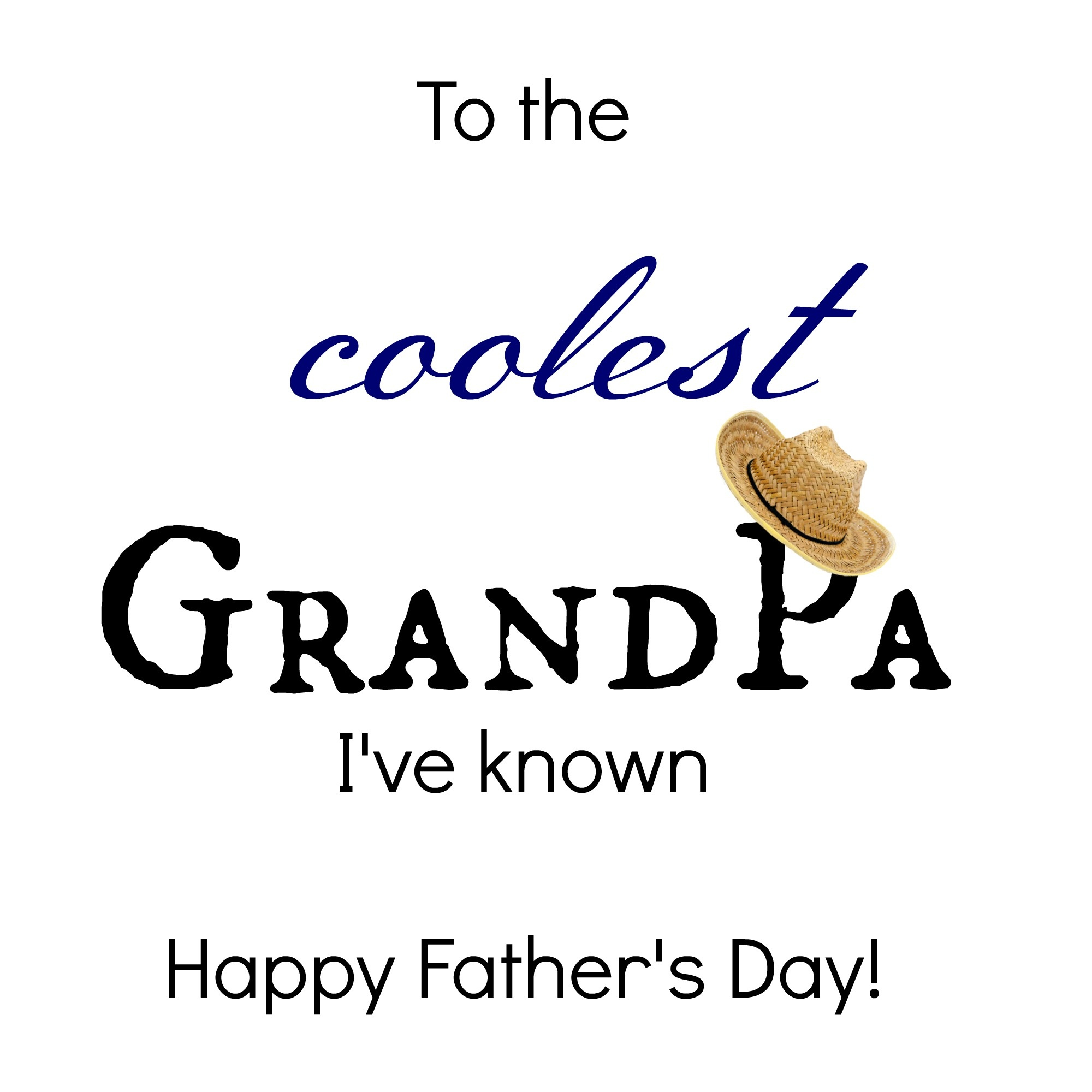 24 Free Printable Father's Day Cards | Kittybabylove - Free Printable Happy Fathers Day Grandpa Cards