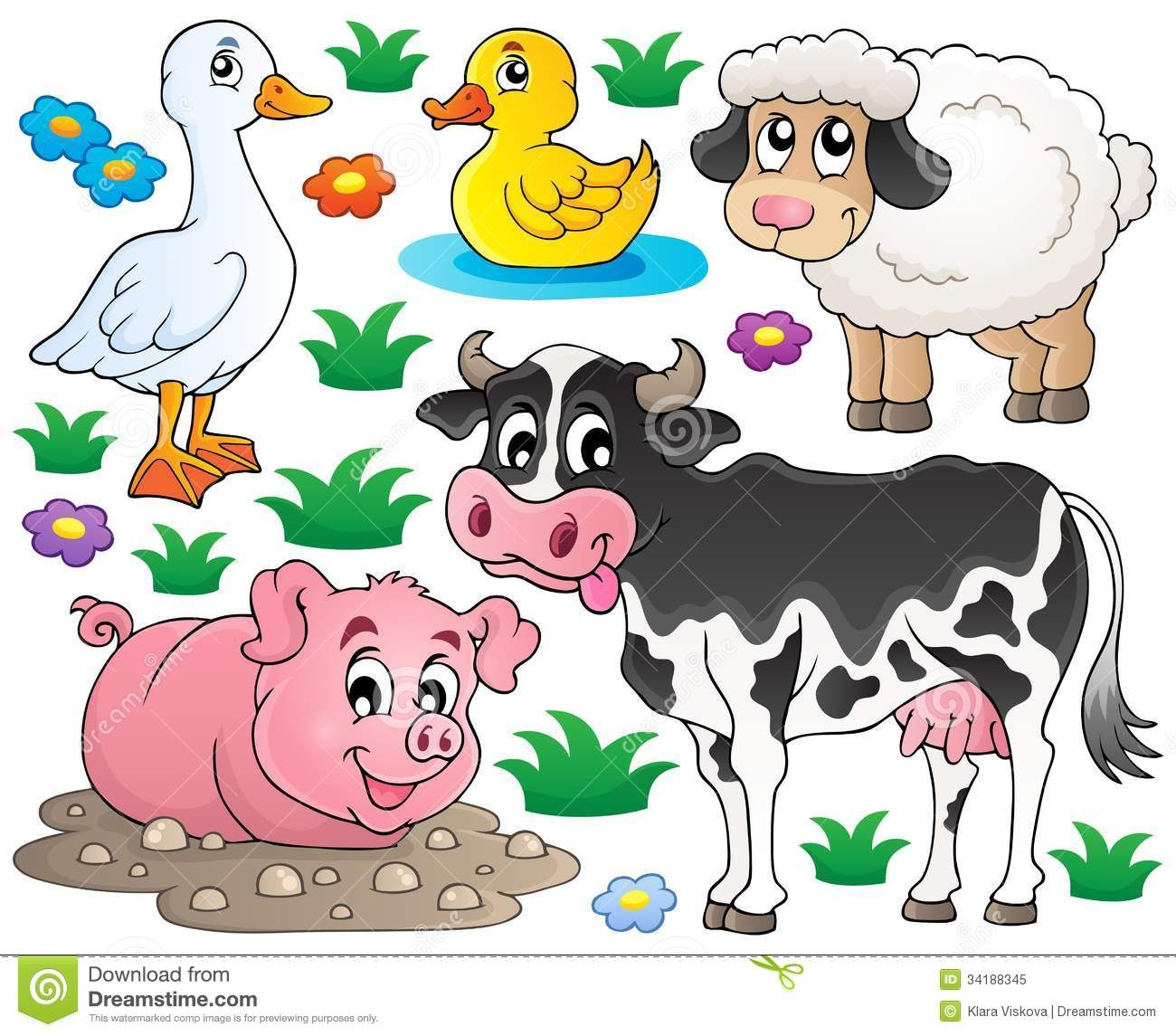 25+ Free Farm Animal Clipart | Clipartlook - Free Printable Farm Animal Clipart