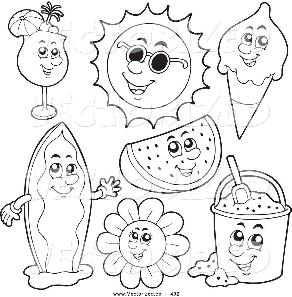 25 Free Printable Summer Coloring Pages Collections | Free Coloring - Free Printable Summer Coloring Pages