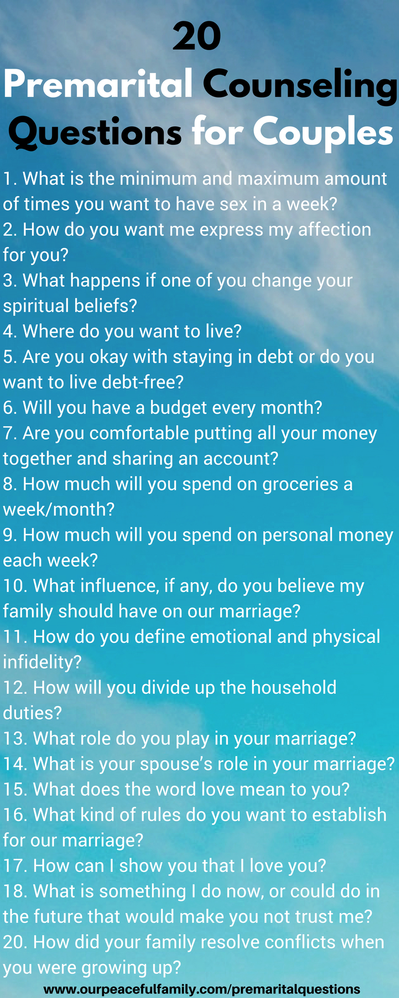 25 Premarital Counseling Questions Every Couple Must Discuss Before - Free Printable Compatibility Test For Couples