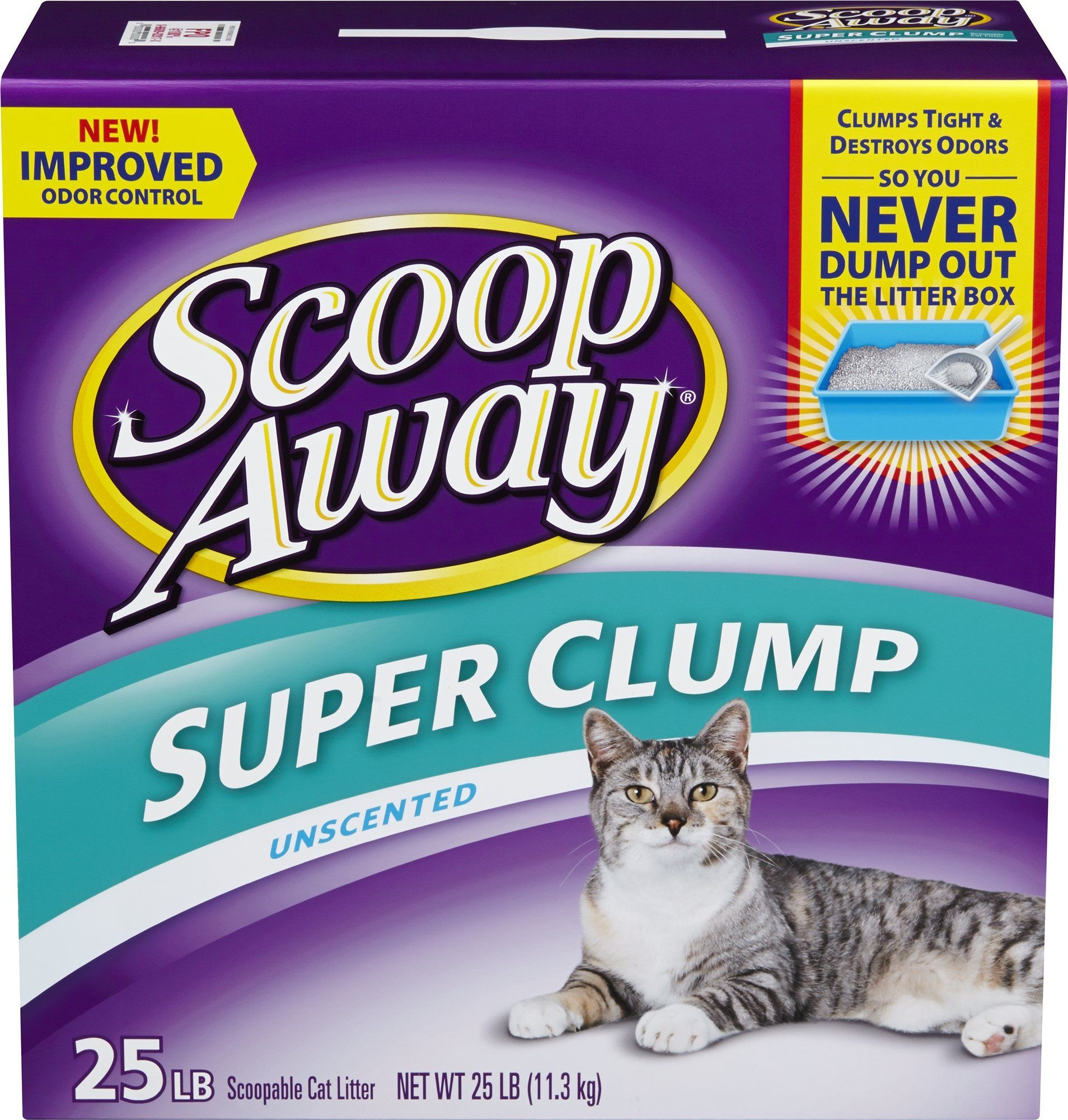 25# Unscented Clumping Cat Litter, Tough Odor Control. Free Of Dyes - Free Printable Scoop Away Coupons