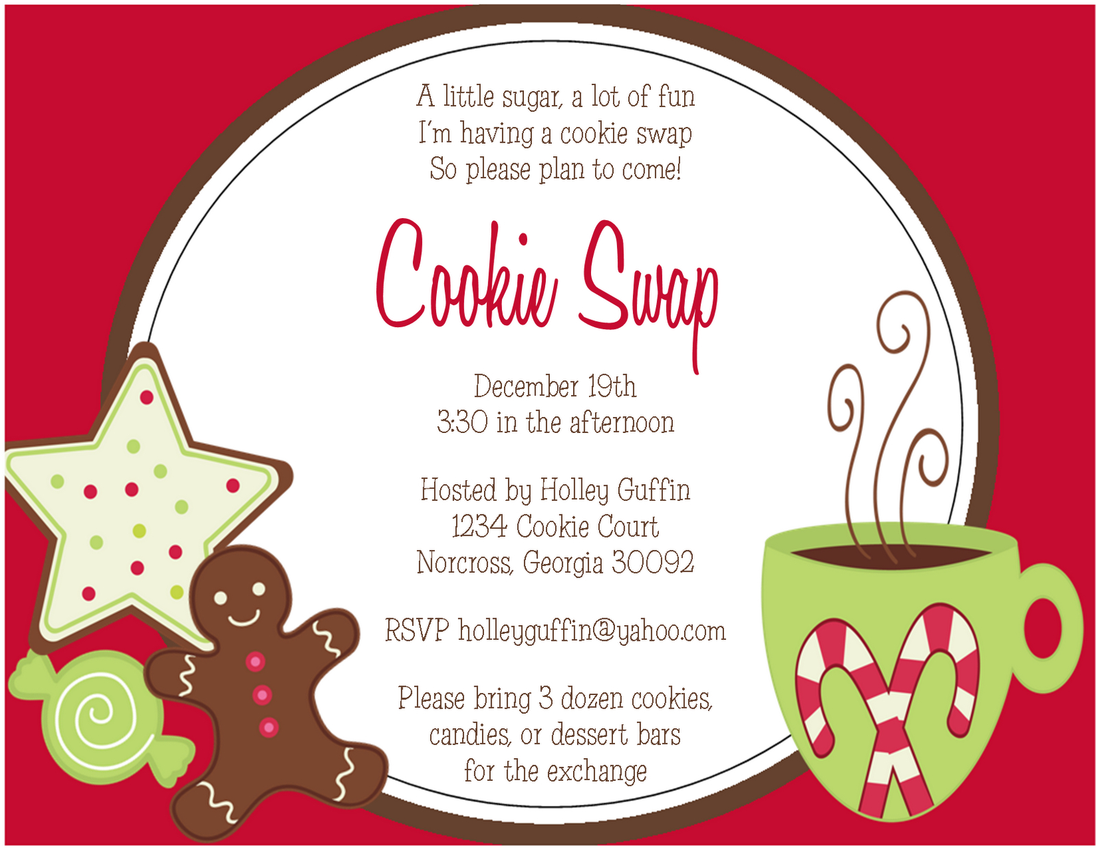 27 Images Of Cookie Swap Party Invitations Free Template | Unemeuf - Free Christmas Cookie Exchange Printable Invitation
