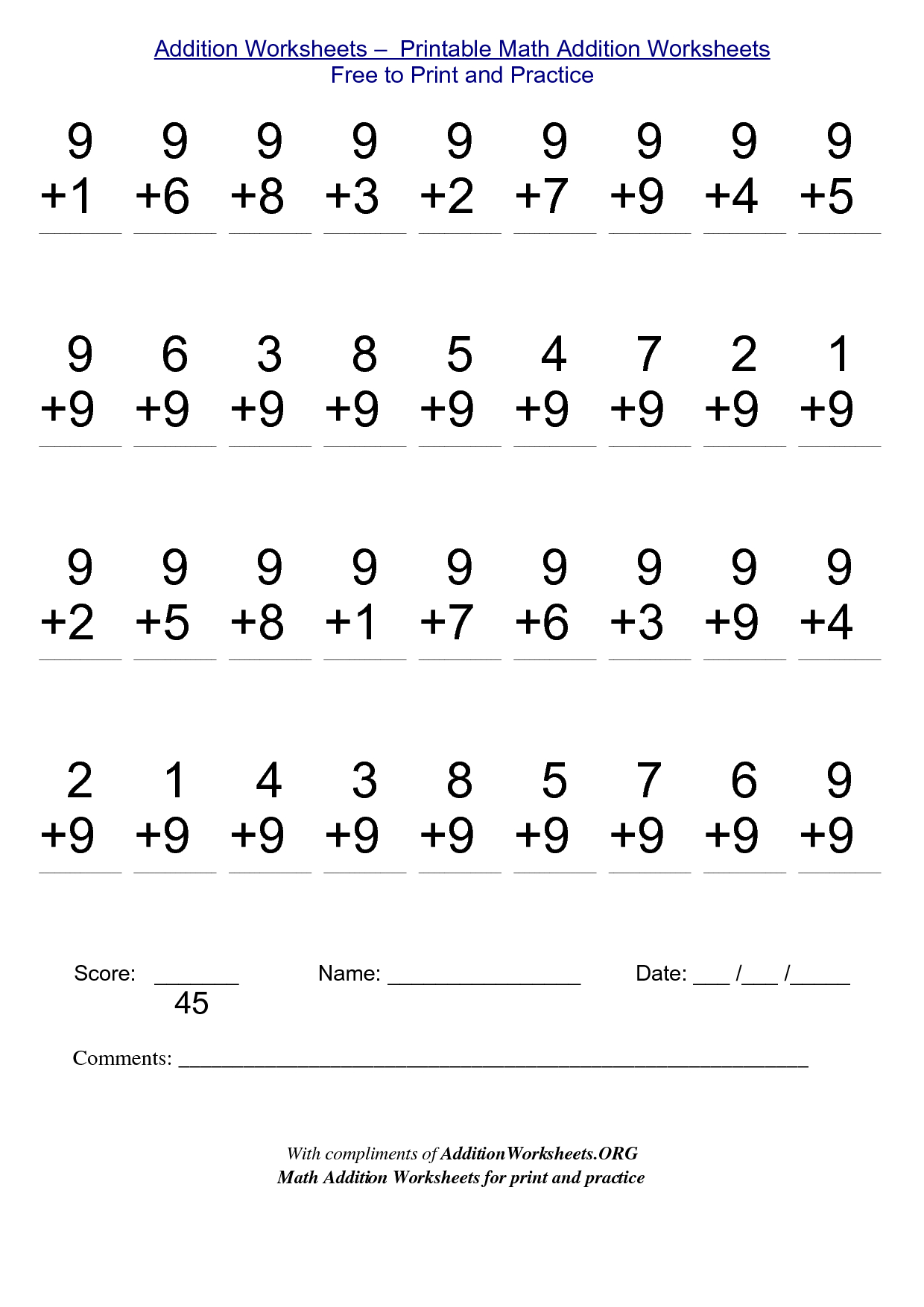 2Nd Grade Stuff To Print | Addition Worksheets - Printable Math - Free Printable Math Worksheets For 2Nd Grade