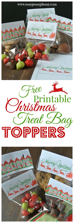 3 Free Printable Christmas Treat Bag Toppers   Easy Peasy Pleasy - Free Printable Christmas Bag Toppers Templates