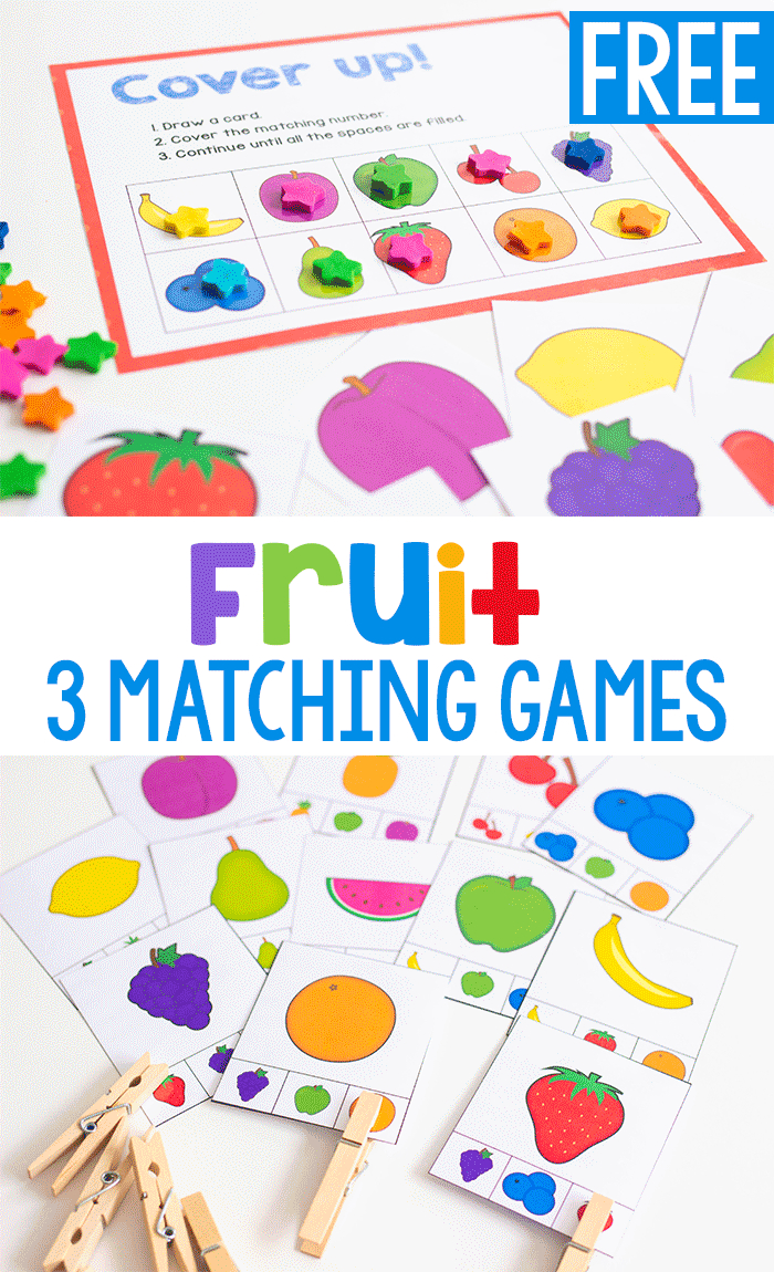 3 Free Printable Fruit Matching Games | Learning With Life Over C's - Free Printable Matching Cards