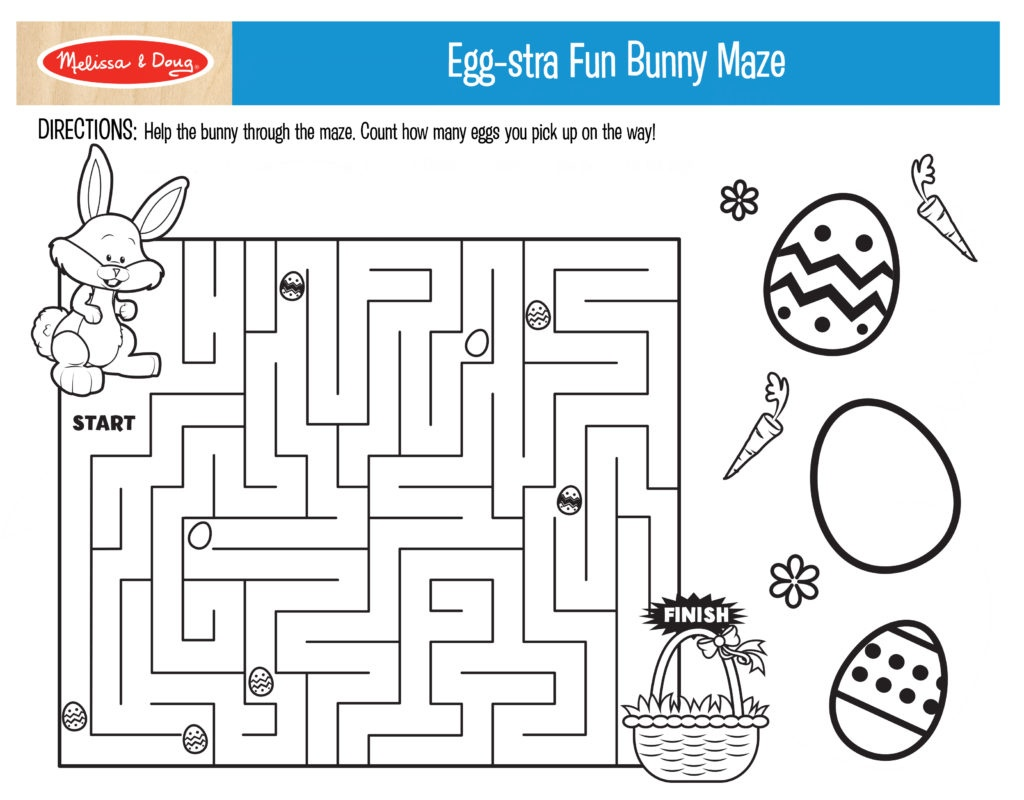 3 Free Printables For Easter Activities!   Melissa & Doug Blog - Free Printable Easter Puzzles For Adults