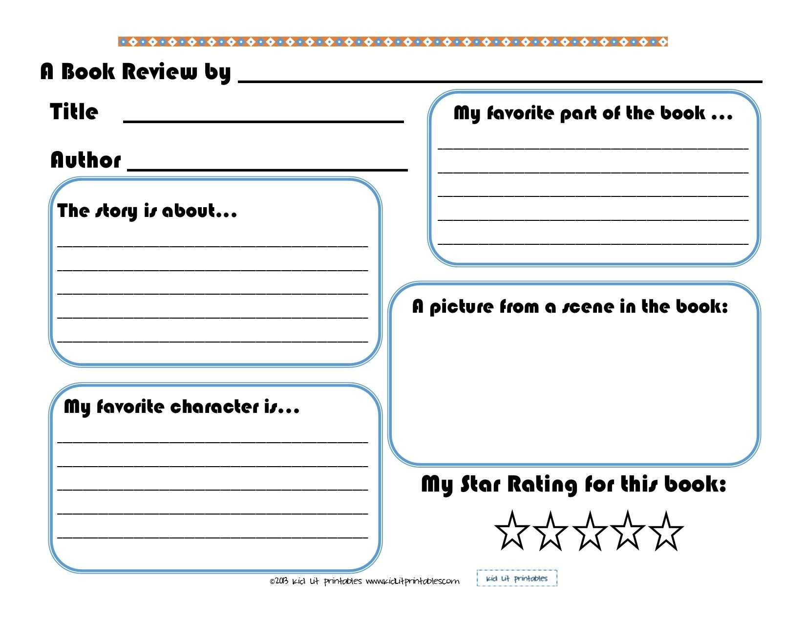 3 Levels Of Free Printable Book Reports From Kid Lit Printables - Free Printable Book Report Forms