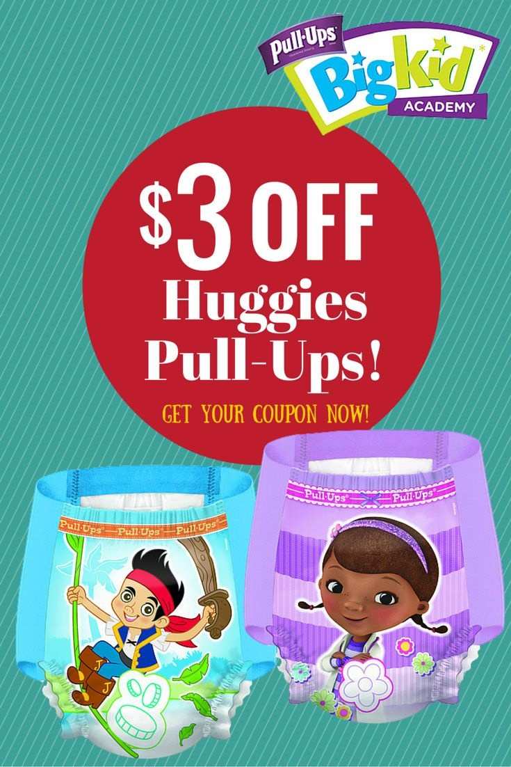 $3 Off Huggies Pull-Ups, Get Your Coupon #pullupsbigkiddeal - Free Printable Coupons For Huggies Pull Ups