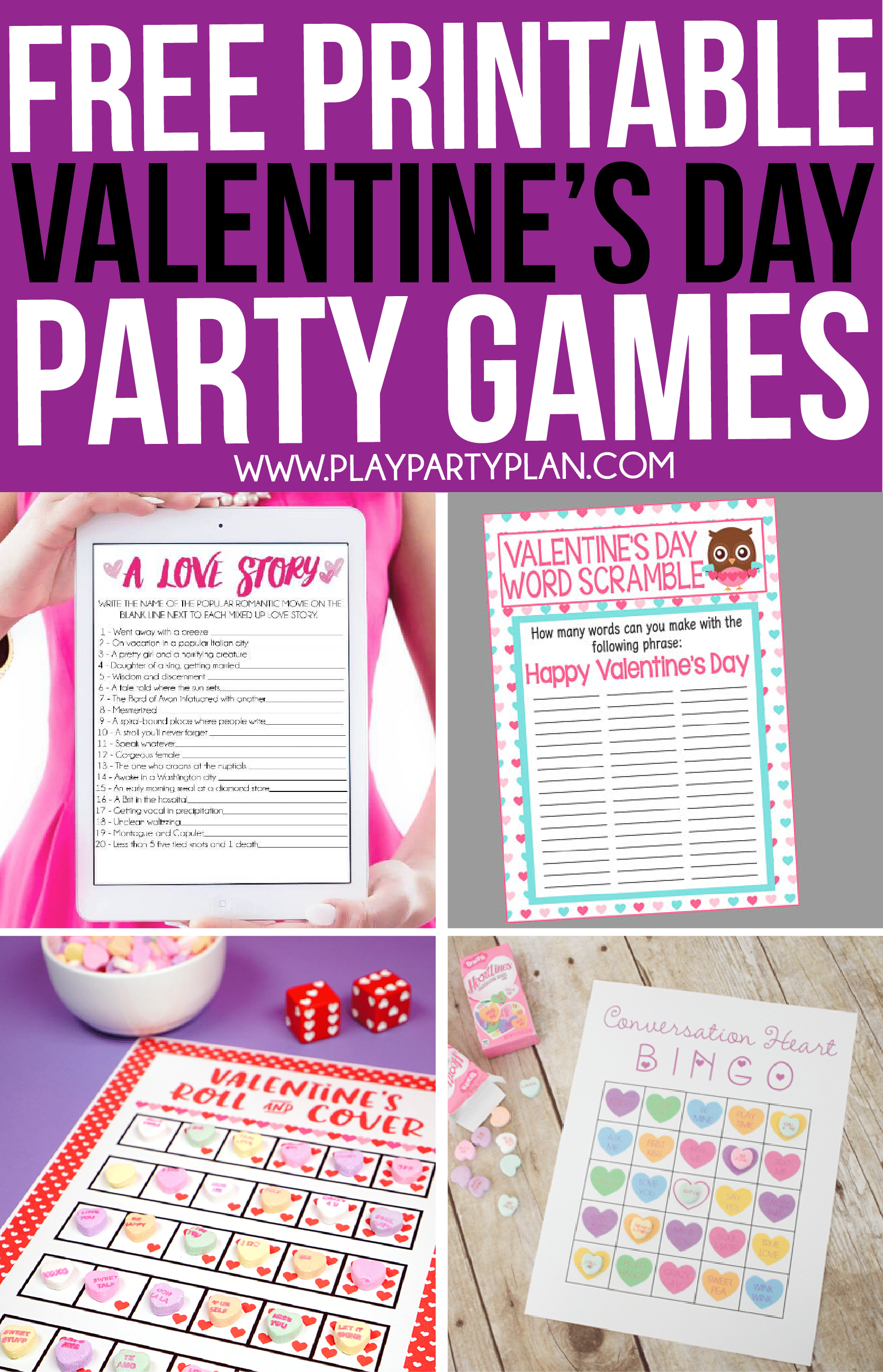 30 Valentine's Day Games Everyone Will Absolutely Love - Play Party Plan - Free Printable Group Games