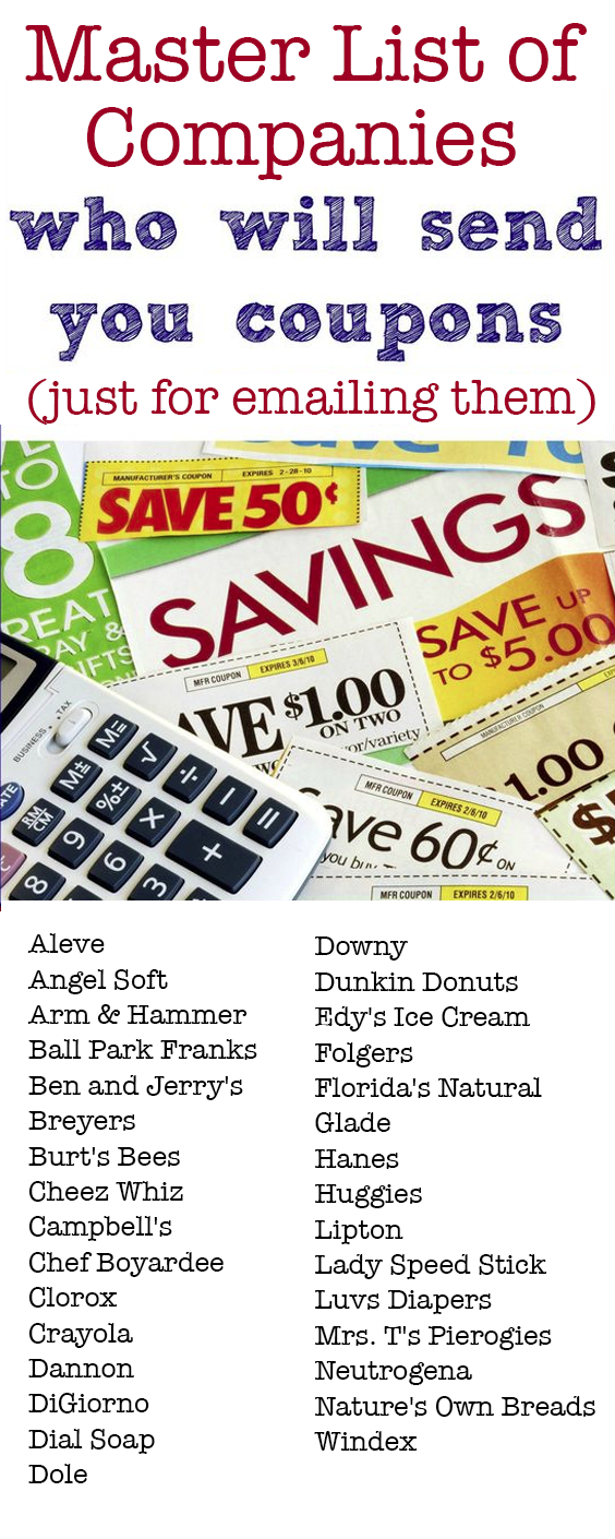 31 Companies That Will Send You Free Couponsmail | Coupons - Free Printable Crayola Coupons