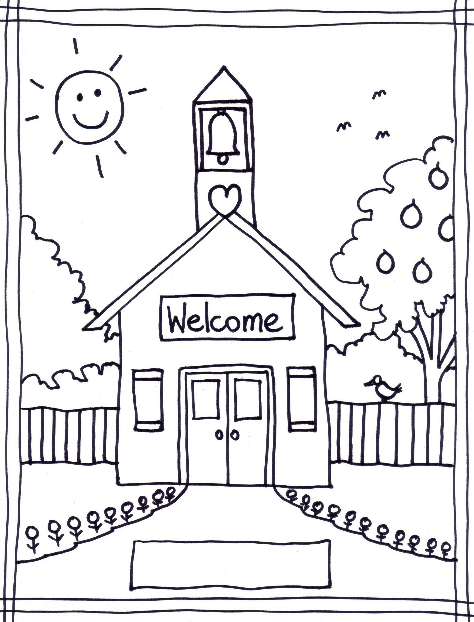 33 Best Back To School Coloring Pages Free Printables For Gianfreda - Free Printable First Day Of School Coloring Pages