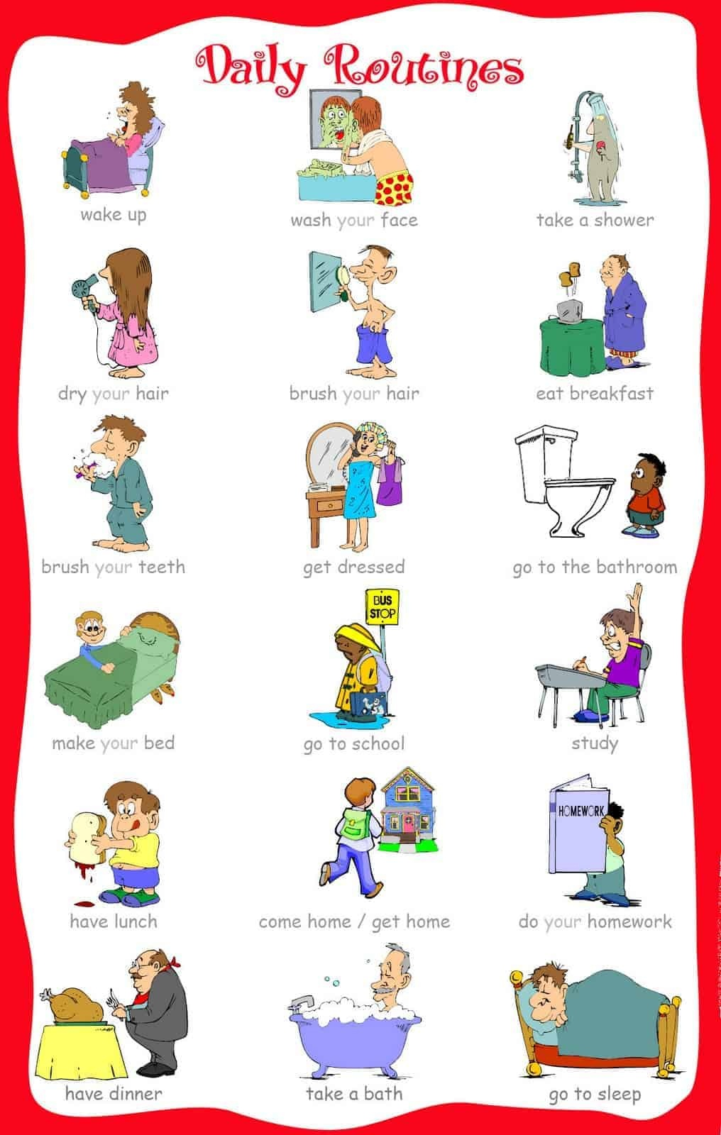 33 Printable Visual/picture Schedules For Home/daily Routines. - Free Printable Daily Routine Picture Cards