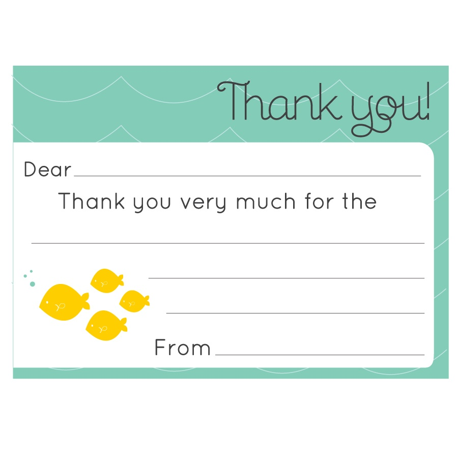 34 Printable Thank You Cards For All Purposes | Kittybabylove - Fill In The Blank Thank You Cards Printable Free