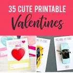 35 Adorable Diy Valentine's Cards To Print At Home For Your Kids   Free Printable Valentines Day Cards For Mom And Dad