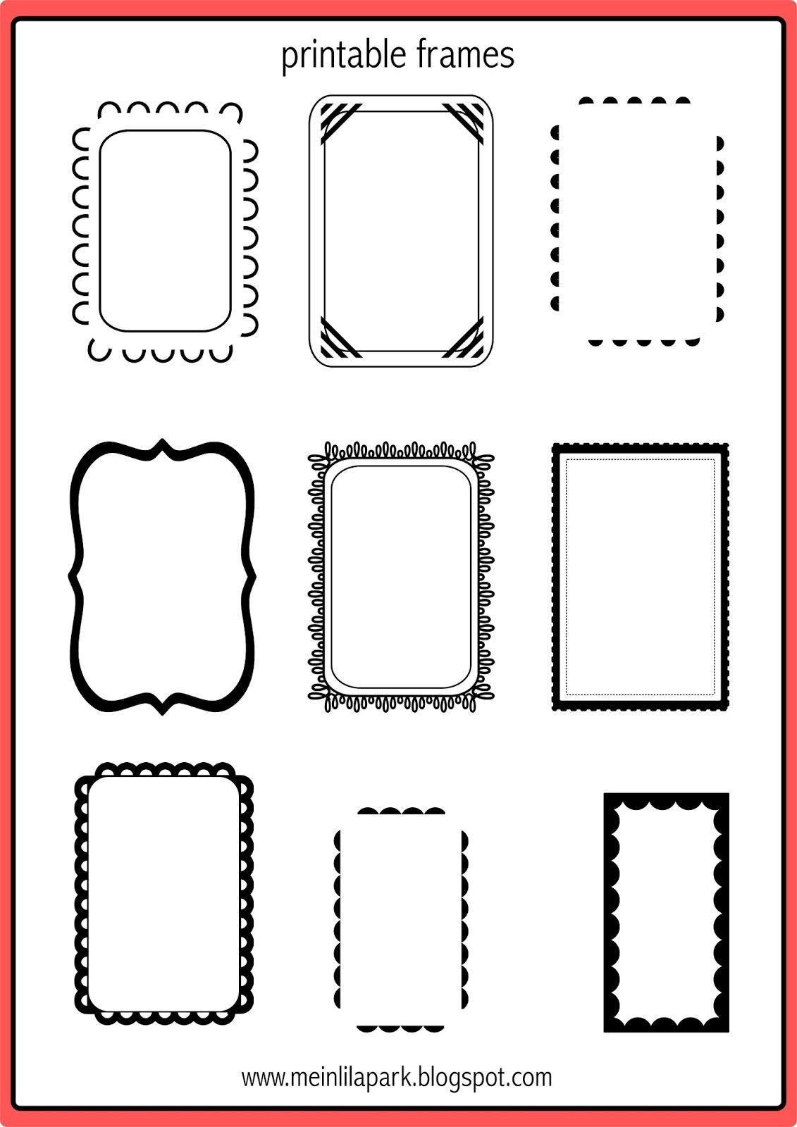 35+ Inspiration Picture Of Scrapbooking Frames Printable - Free Printable Frames For Scrapbooking