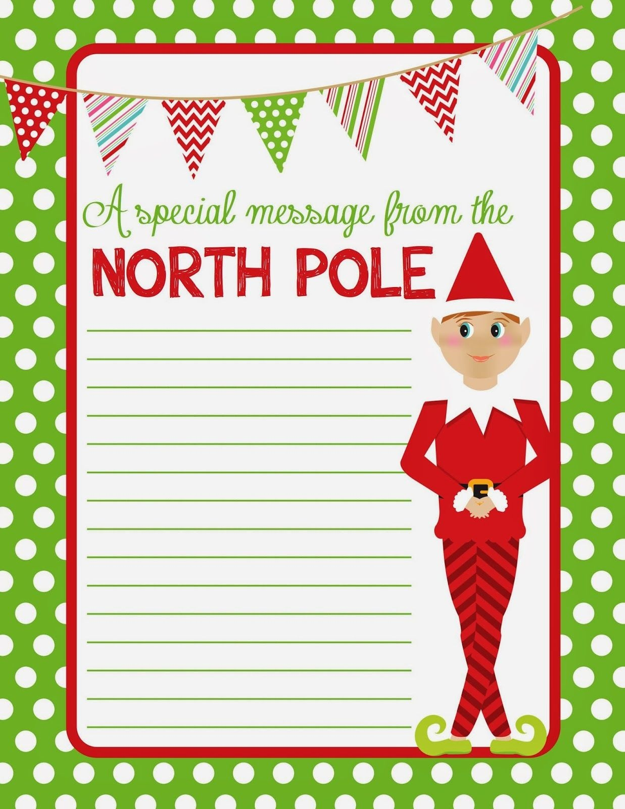 4 Best Images Of Elf On The Shelf Free Printable Christmas Paper - Free Printable Elf Stationery