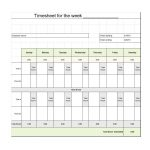 40 Free Timesheet / Time Card Templates ᐅ Template Lab   Time Management Forms Free Printable