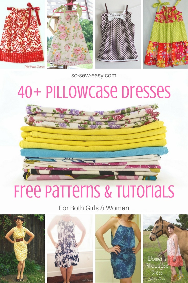40+ Pillowcase Dresses Free Patterns And Tutorials - So Sew Easy - Free Printable Pillowcase Dress Pattern