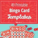 49 Printable Bingo Card Templates – Tip Junkie   Free Printable Number Bingo Cards 1 20