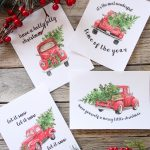 5 Free Vintage Truck Christmas Printables | The Happy Housie – Free Printable Christmas Decorations