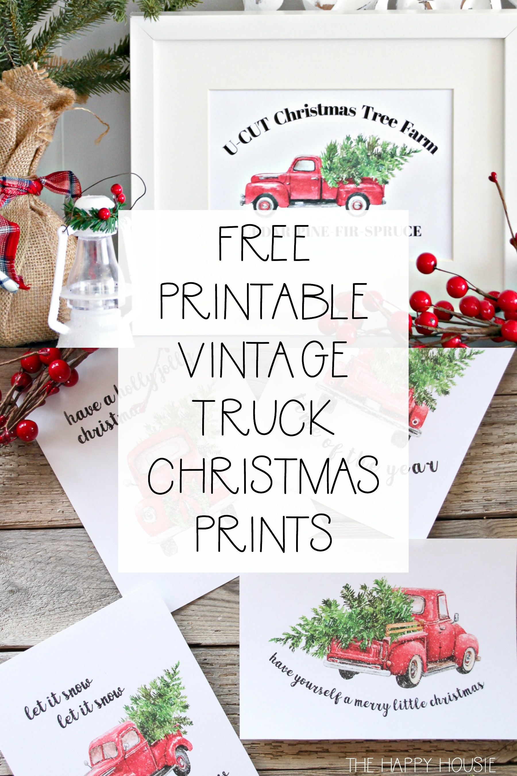 5 Free Vintage Truck Christmas Printables   The Happy Housie - Free Printable Vintage Christmas Pictures