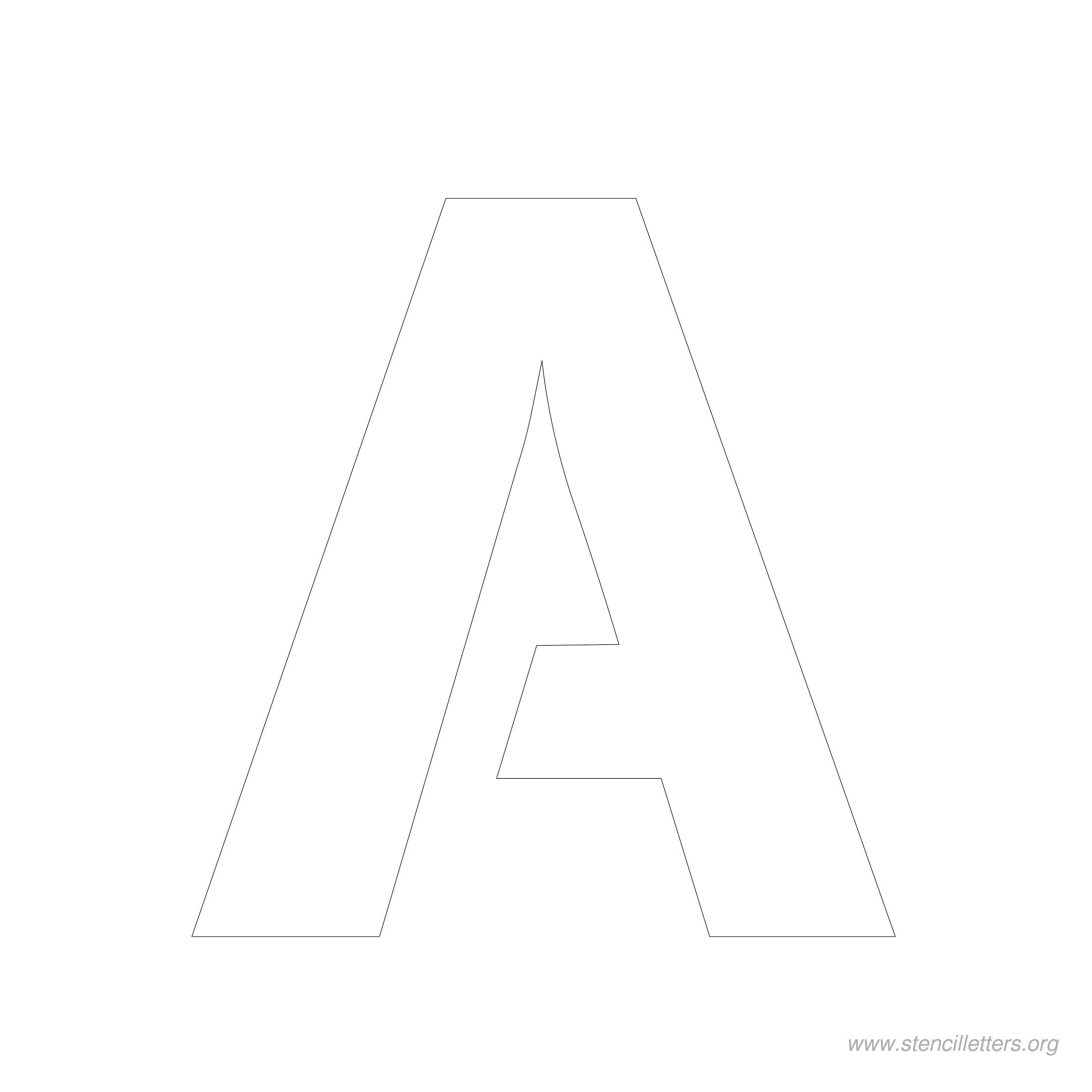 5 Inch Stencil Letters | Stencil Letters Org - Free Printable 10 Inch Letter Stencils