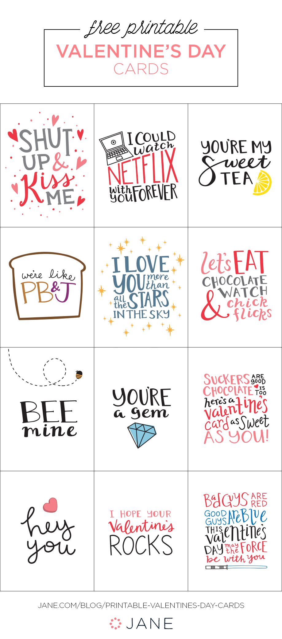 50+ Easy Diy And Printable Valentines | Mompop | Printable - Free Printable Valentine Cards For Husband