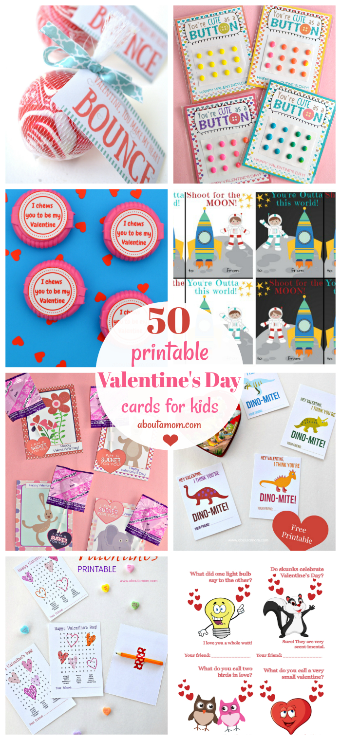 50 Free Printable Valentine's Day Cards - Free Printable Valentines For Kids