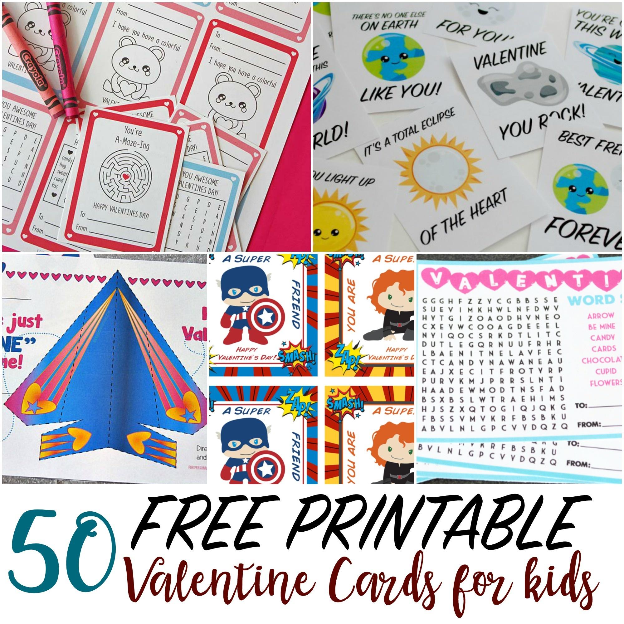 50 Printable Valentine Cards For Kids - Free Printable Valentines For Kids