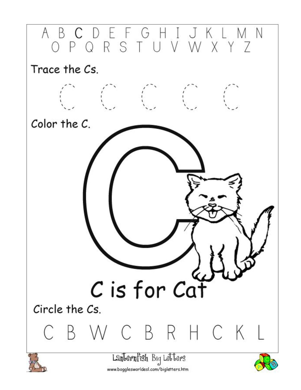 6 Best Images Of Free Printable Preschool Worksheets Letter C   Day - Free Printable Pre K Activities