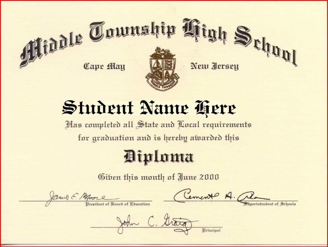 60+ Free High School Diploma Template - Printable Certificates - Printable Fake Ged Certificate For Free