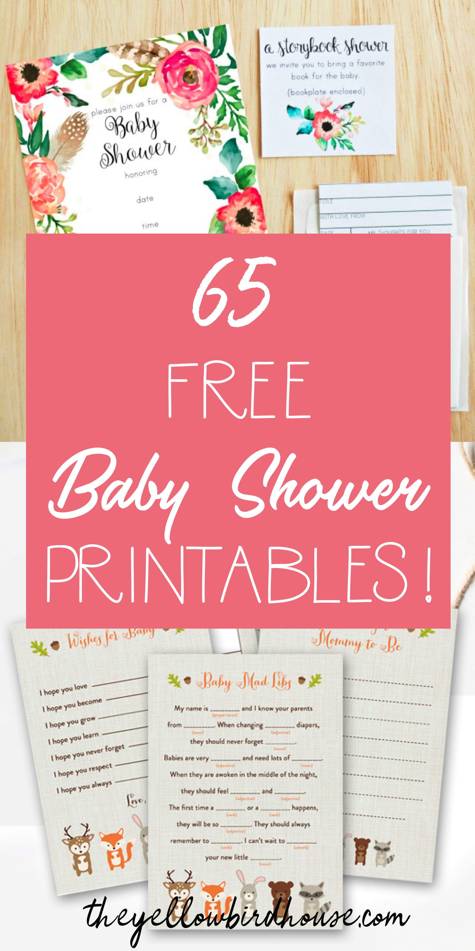 65 Free Baby Shower Printables For An Adorable Party - Free Printable Black And White Baby Shower Invitations