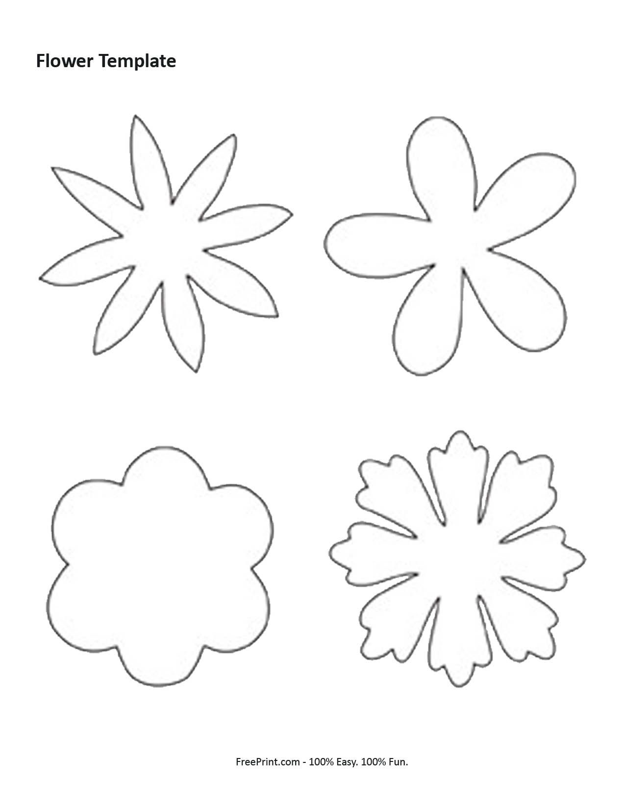 7 Best Images Of Shape Flower Printable Templates - Free Printable - Free Shape Templates Printable