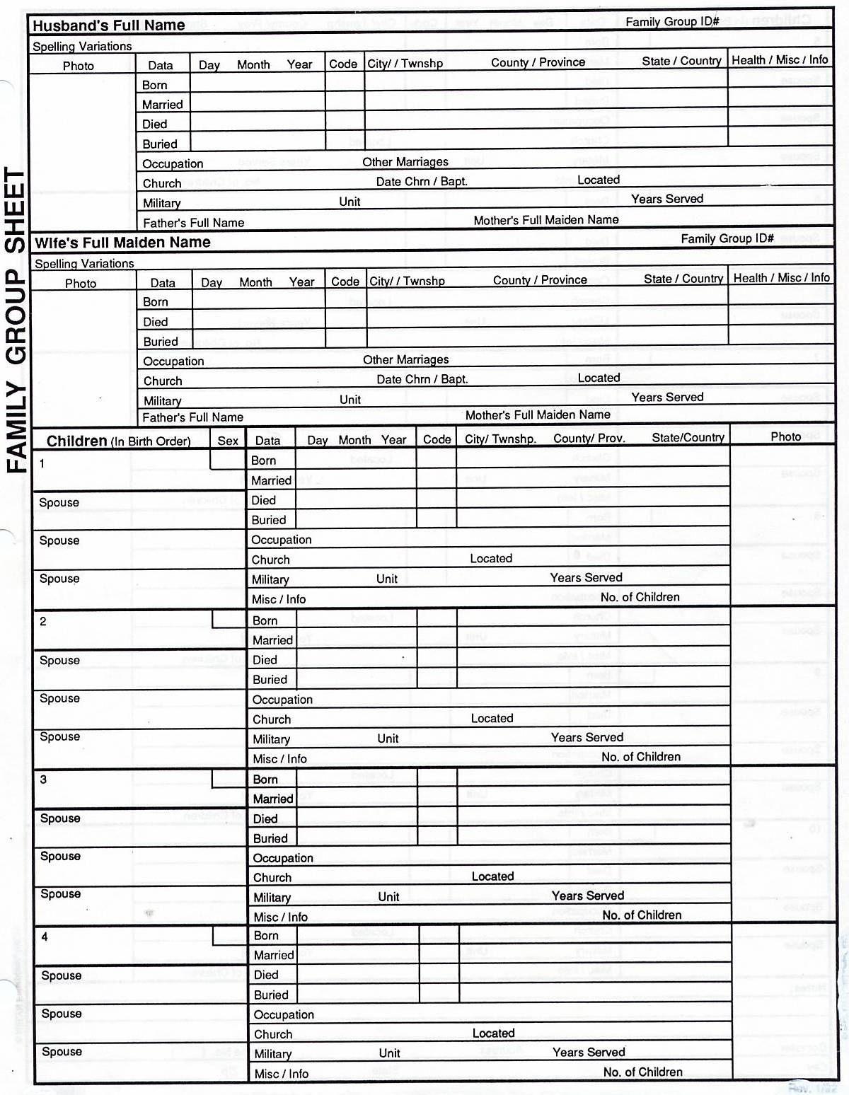 7 Generation Pedigree Chart | Genealogy | Family Tree Chart - Free Printable Genealogy Worksheets