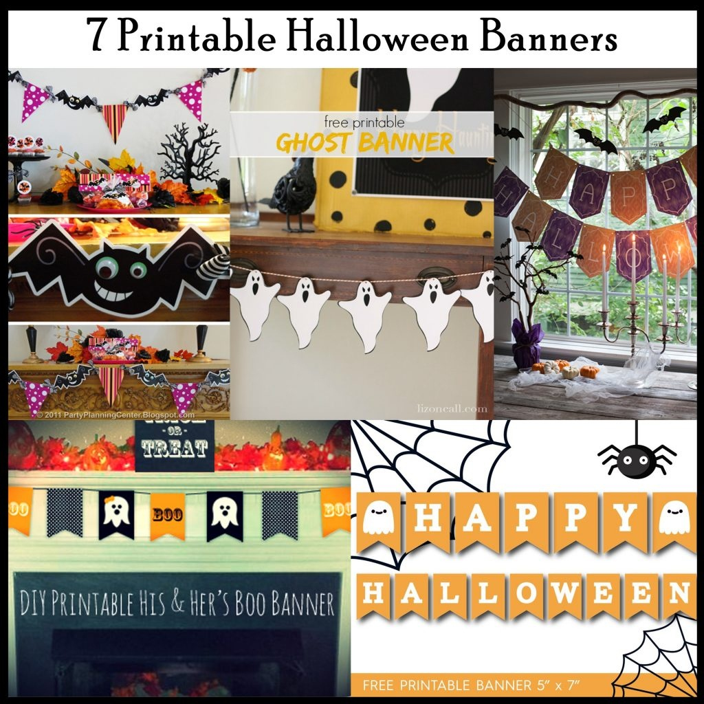 7 Printable Halloween Banners - Printables 4 Mom - Free Printable Halloween Banner