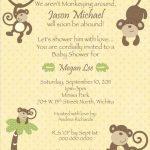 7 Printable Monkey Baby Shower Invitations   Bestpickr   Free Printable Monkey Birthday Party Invitations