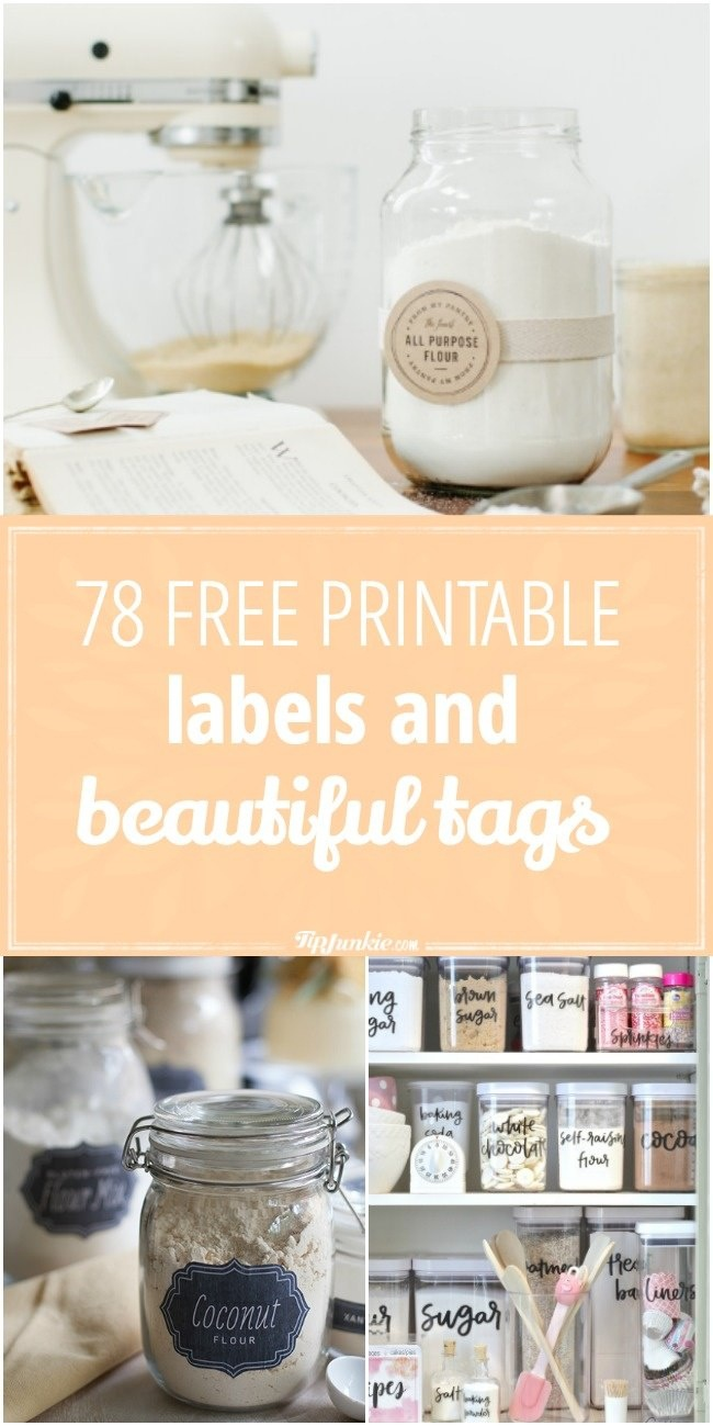 78 Free Printable Labels And Beautiful Tags – Tip Junkie - Free Printable Baking Labels