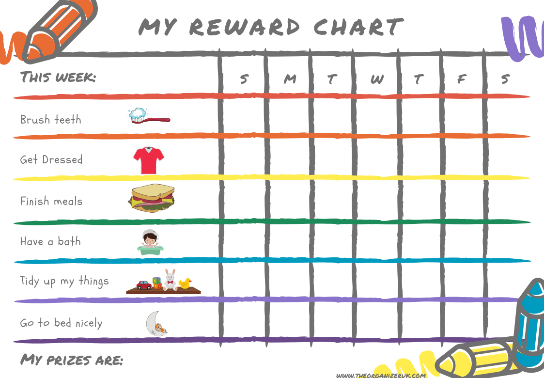 8 Of The Best Free Printable Kids Chore Charts ~ The Organizer Uk - Free Printable Charts For Kids