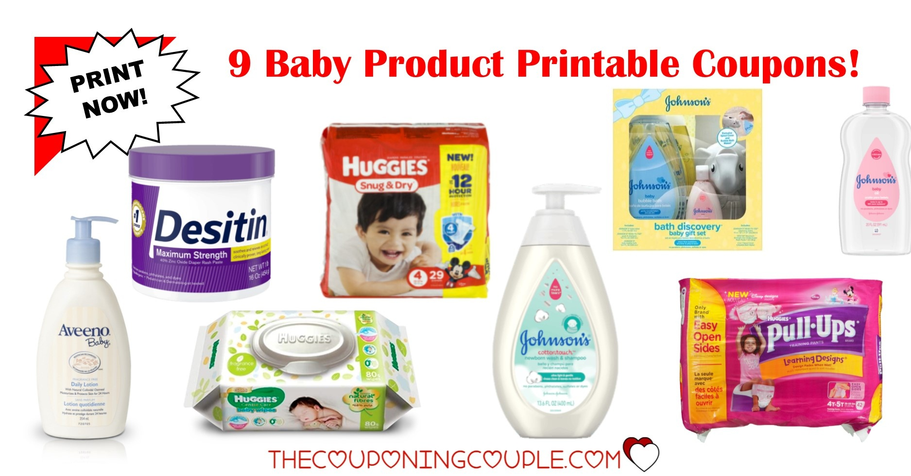 9 Baby Product Printable Coupons ~ Over $15.50 In Savings! - Free Printable Coupons For Baby Diapers