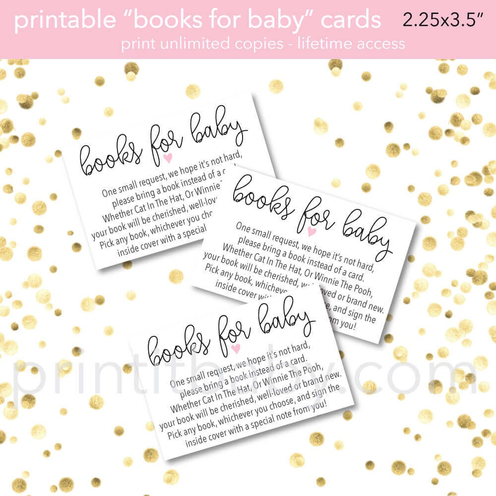 "9 ""bring A Book Instead Of A Card"" Baby Shower Invitation Ideas - Bring A Book Instead Of A Card Free Printable"
